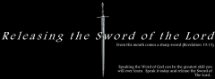 releasing the sword of the lord